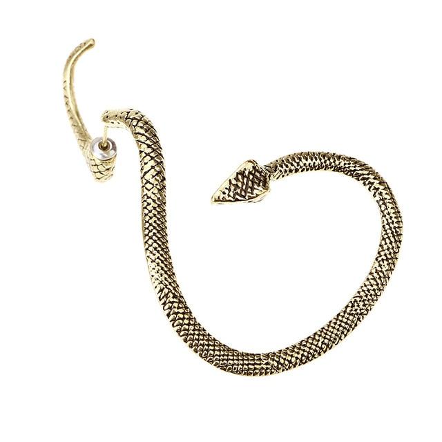 1PC Vintage Winding Snake Earrings for Women Men Jewelry European Punk Animal Ear Stud Handmade Mens.jpg 640x640 - 1PC Vintage Winding Snake Earrings for Women Men Jewelry European Punk Animal Ear Stud Handmade Mens Unisex Stud Earings E217