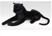 simulation animal 95cm lying Panther plush toy black panther doll gift k0596