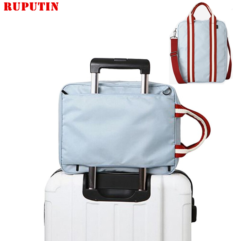 RUPUTIN Men Small Travel Bags Foldable Suitcase Weekend Bag Female Packing Cubes Tote Luggage Storage Organizer Collation Pouch
