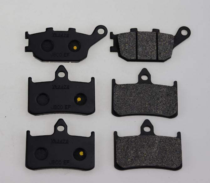 Motorcycle Semi-Metallic Sintered Disc Front & Rear Brake Pads For SUZUKI BANDIT 650 / 650S ABS 2008 motorcycle front and rear brake pads for yamaha fzr 400 fzr400 3en1 1988 brake disc pad