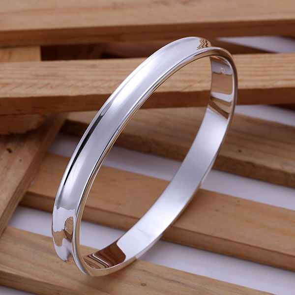 B026 925  sterling silver bangle bracelet, 925 silver fashion jewelry 1837 Silvery Bangle-no words /afeaiwla aigaizna