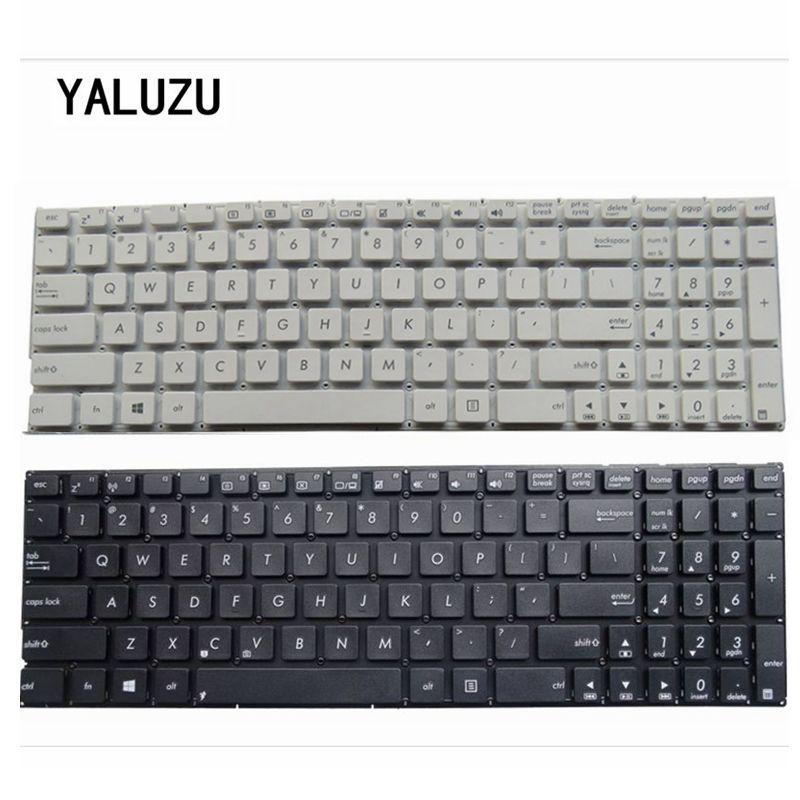 YALUZU US Keyboard For ASUS X553 X553M X553MA K553M K553MA F553M F553MA Black /WHITE Laptop Keyboard