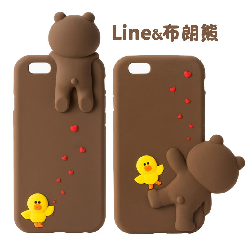 Line Friends Iphone 6 Clical Clear Phone Case Brown Ln I6bn
