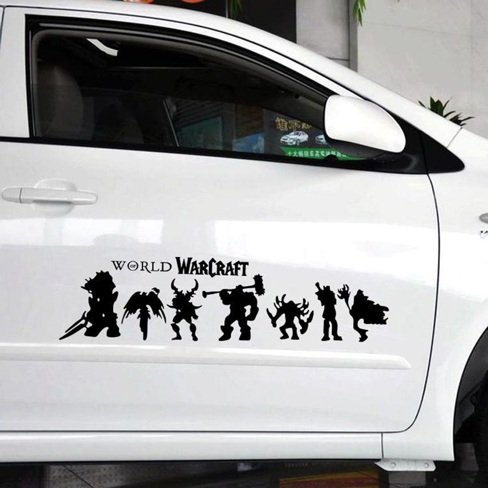 Design a car sticker online - Car Styling World Warcraft Heroes Decoration Reflect Car Sticker And Decal For Ford Focus Volkswagen