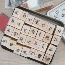 The butterfly curlicue fonts installed DIY log letters seal iron boxes 28 pcs/set  Lowercase Free shipping