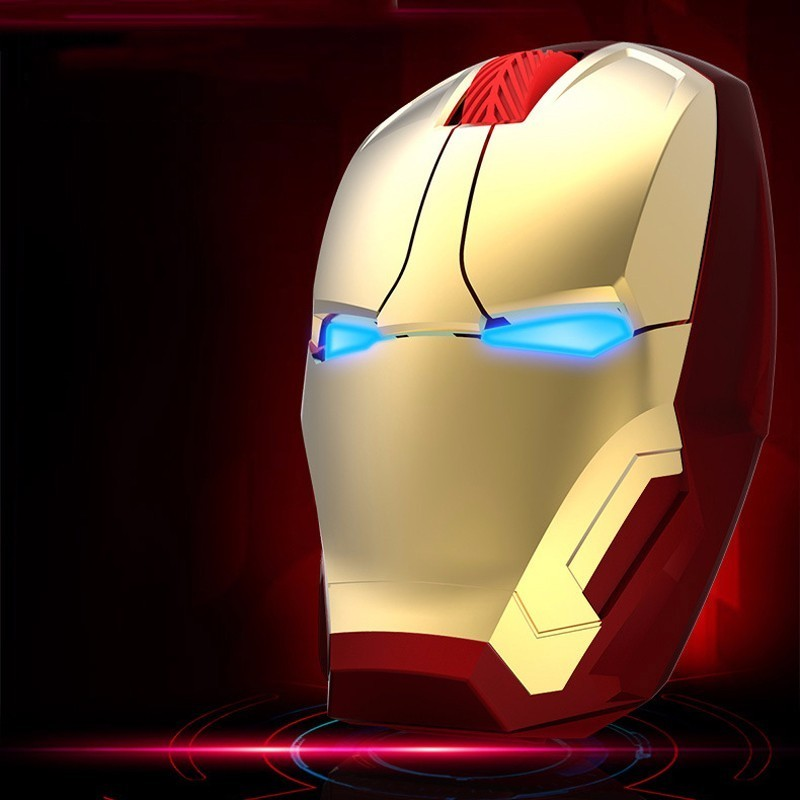Wireless Iron Man Mouse USB Optical Computer Silent Muase Ergonomic Adjustable 800-1200-1600-2400 DPI Gaming Mice With Mouse Pad