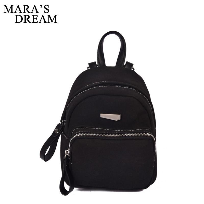 Maras Dream 2018 New Women Bag Cute Mini Backpacks For Girls Small Scrub PU Leather Backpack For Teenagers Back Pack Sac a Dos