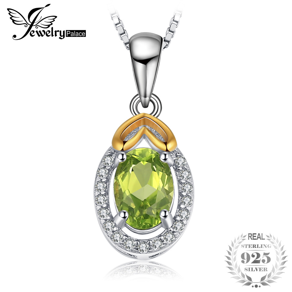 JewelryPalace Luxry Genuine Gemstone Peridot Pendant 925 Sterling Silver Pendants Necklaces Not Include Chain Fine JewelryJewelryPalace Luxry Genuine Gemstone Peridot Pendant 925 Sterling Silver Pendants Necklaces Not Include Chain Fine Jewelry