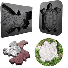 Concrete Molds Turtle Stepping Stone Mold Concrete Cement Mould ABS Tortoise Garden Path 44CM molde para cemento suelo