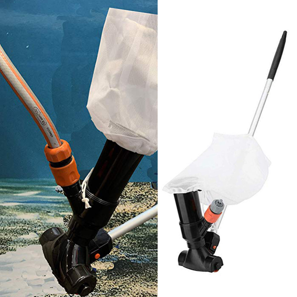 120cm Pool Vacuum Cleaner Swimming Pool Vacuum Jet 5 Pole Sections Suction Tip Connector Inlet Portable Detachable Cleaning Tool