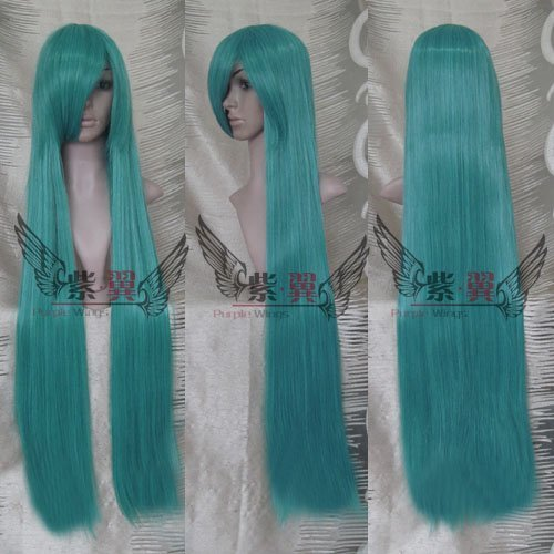 Dark Green Extra Long Straight Cosplay Wig100cm/party wig/hair - Free shipping
