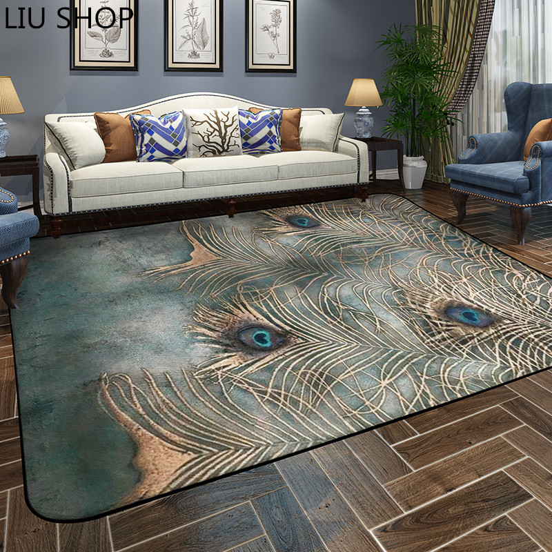 liu peacock carpet living room rug european style simple modern bedroom mat tea table sofa room bedside home rectangular in carpet from home garden on - Carpet Living Room
