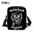 FORUDESIGNS Mens Messenger Bags Metallica Skull Motorhead Heavy Metal Rock Design Cool Crossbody Bags for Men Teen shoulder bag