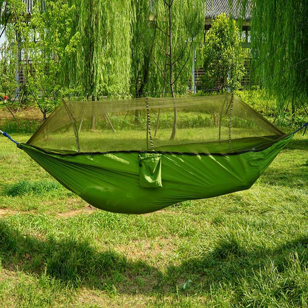Outdoor Camping Hammock Double Automatic Nnfolding Hammock 260 X 140cm 210t Nylon Material Ultralight Parachute Hammock
