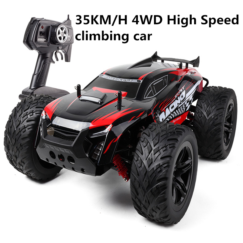 35KM/H 4WD High Speed Off Road Vehicle Remote-controlled car 1:10 desert cross-country racing model children's car lc racing high quality 1 14 series car accessories l6062 desert truck anti roll frame group cross country racing speed card