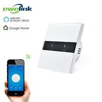 EU Standard EWelink 2 Gang 1 Way Wifi Control Switch Via Android IOS Wireless Control Light
