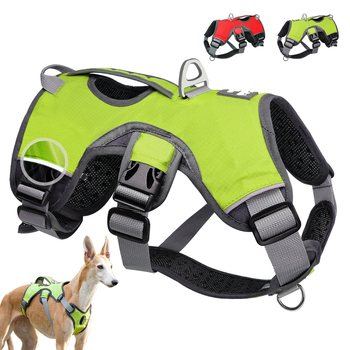 Pet Dog Harness For Big Large Dogs Vest Adjustable Strong Outdoor Reflective Harness Service Dog Supplies Accessories Products