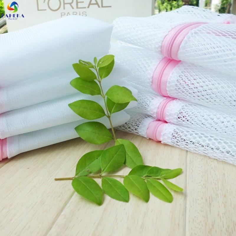3pcs/lot Laundry bag for washing machine Underwear Aid Lingerie Mesh Net Wash Bag Pouch Basket 3 Sizes Mixed