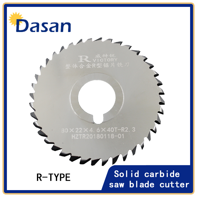 2PCS Saw Blade Milling Cutter Tipped Circular Saw Blade 80*22*4.6x*40T-R2.3 Cutting Aluminum Alloy Stainless Steel Rotary Tool