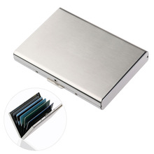 Ultra Thin Stainless Steel Wallets RFID Blocking Credit Card Wallet Holder for Men