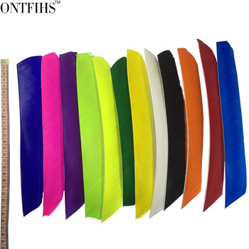 50pcs ONTFIHS Fletching Arrow Feathers Multicolor Full length Real Turkey Feather for Archery