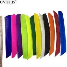 50 قطعة من ريش السهم المرن ONTFIHS متعدد الألوان بطول كامل ريشة تركيا الحقيقية للصيد والرماية ريشة السهم