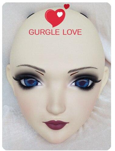 gurglelove Female Sweet Girl Resin Half Head Kigurumi Bjd Mask Cosplay Japanese Anime Role Lolita Mask Crossdress Doll xiaoyan3 Novelty & Special Use Costumes & Accessories