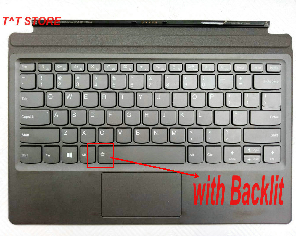 NEW original For lenovo MIIX 520 520 12ISK US language keyboard with or without Backlit keyboard test good freen shipping-in Computer Cables & Connectors from Computer & Office    1