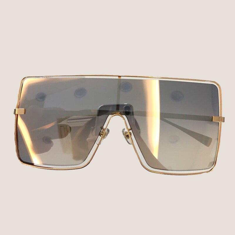 bd2fcd4101c1 Square Sunglasses Women 2018 New Fashion Mirror Coating Lens Eyewear ...