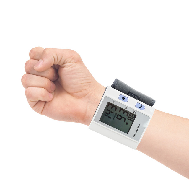 Household Digital Lcd Wrist Blood Pressure Monitor Arm Pulse Heart Beat Meter Machine Tonometer Measuring Automatic Healthy Care