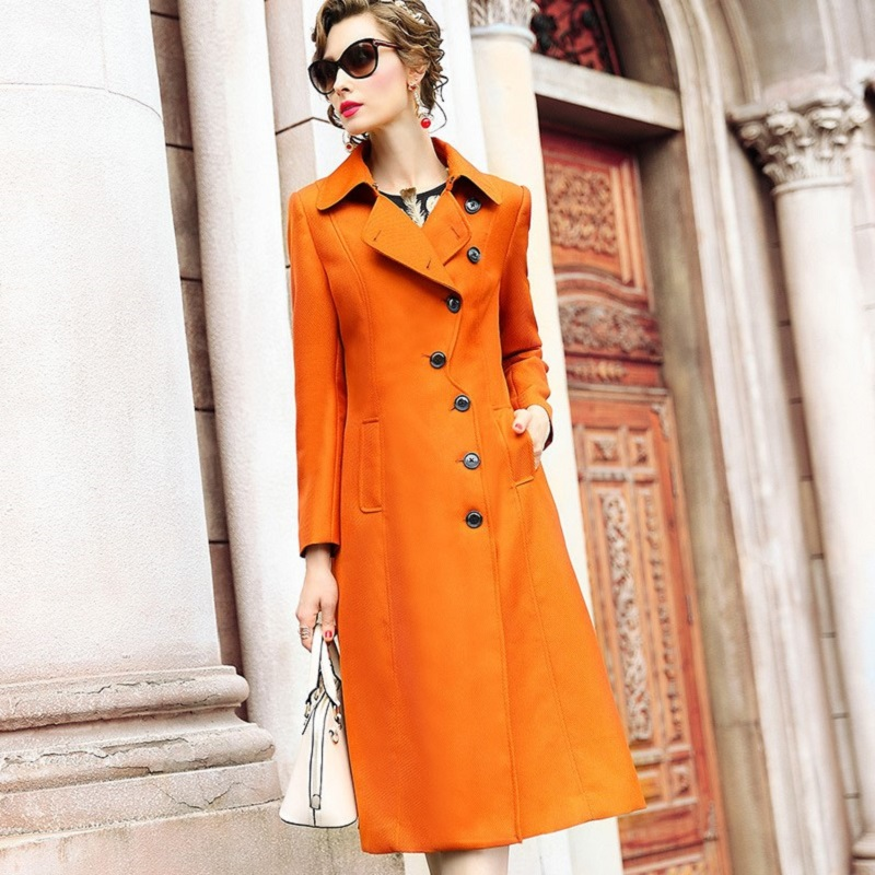 Long sleeves slim 2018 new High Quality office lady coats spring coat Plus Size 3xl Women