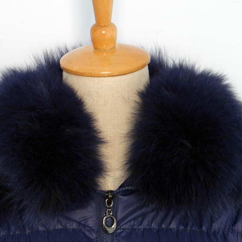 Бесплатная доставка, новый стиль, зимние женские куртки, для взрослых женщин, натуральный Лисий мех, толстый утиный пух, пуховое пальто