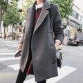 Nuevas Mujeres de Invierno Abrigo de Lana Delgada Doble Botonadura Abrigo de Invierno de la Solapa de Largo Abrigos abrigos casaco feminino