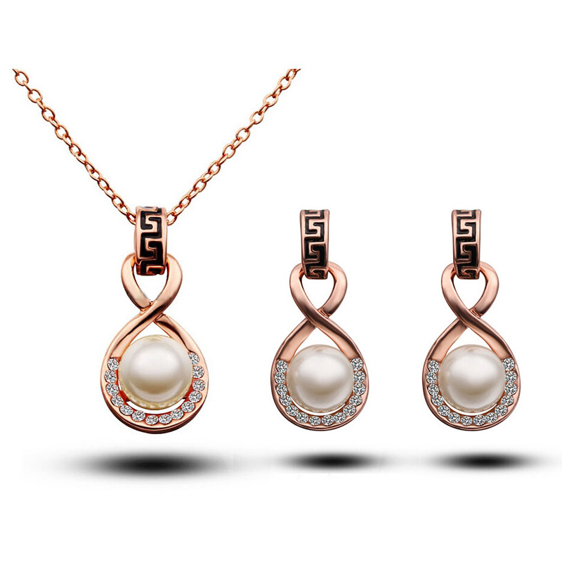 Infinity Jewelry Set Pearl...
