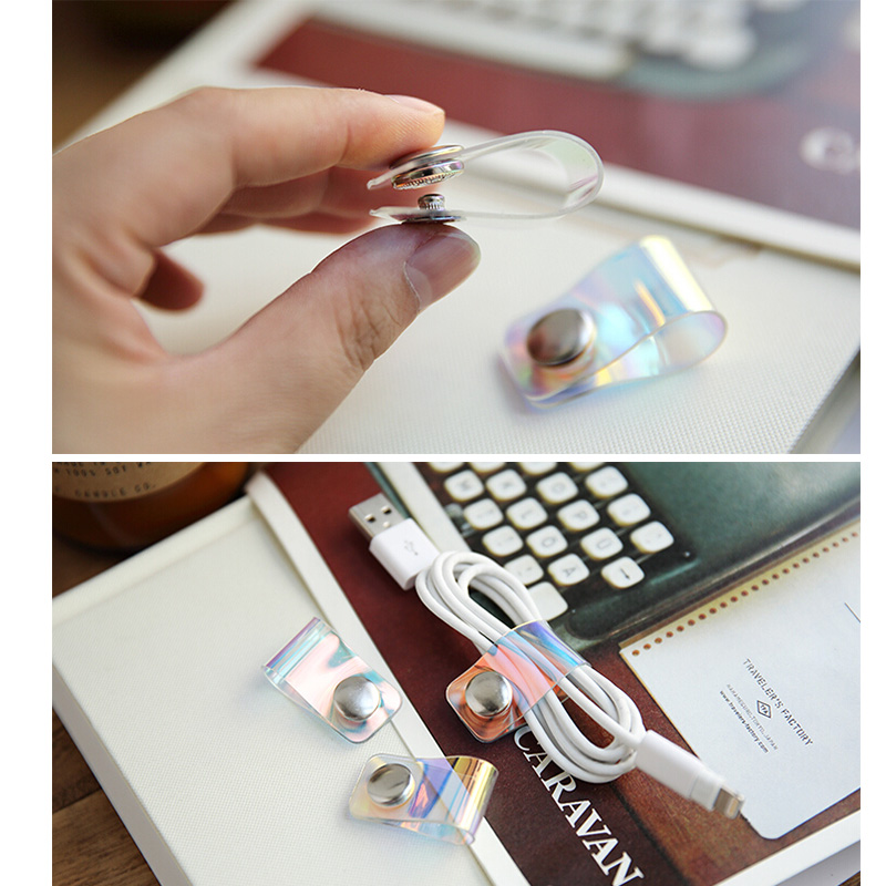 1pc Mobile Data Cable ABS Storage Buckle Organizer Portable Universal Earphone Winder Storage Wire