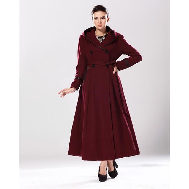 Aliexpress.com : Buy Brand Women Full Length Winter Wool Poncho ...