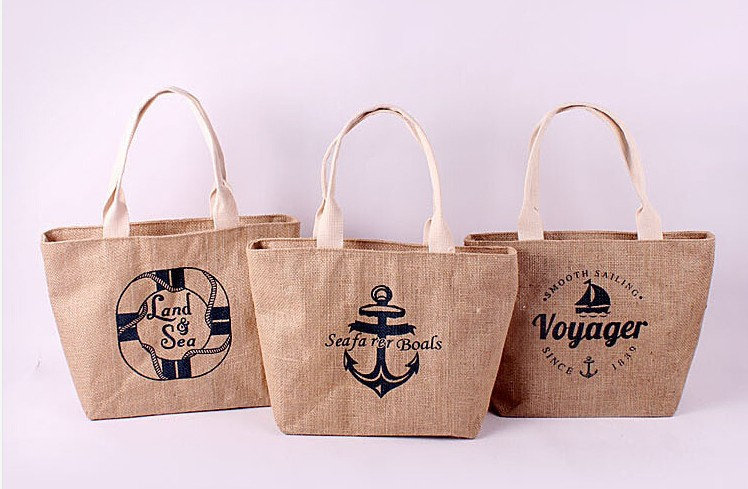 Aliexpress.com : Buy 2015 Zakka jute bag jute beach bag shopping ...