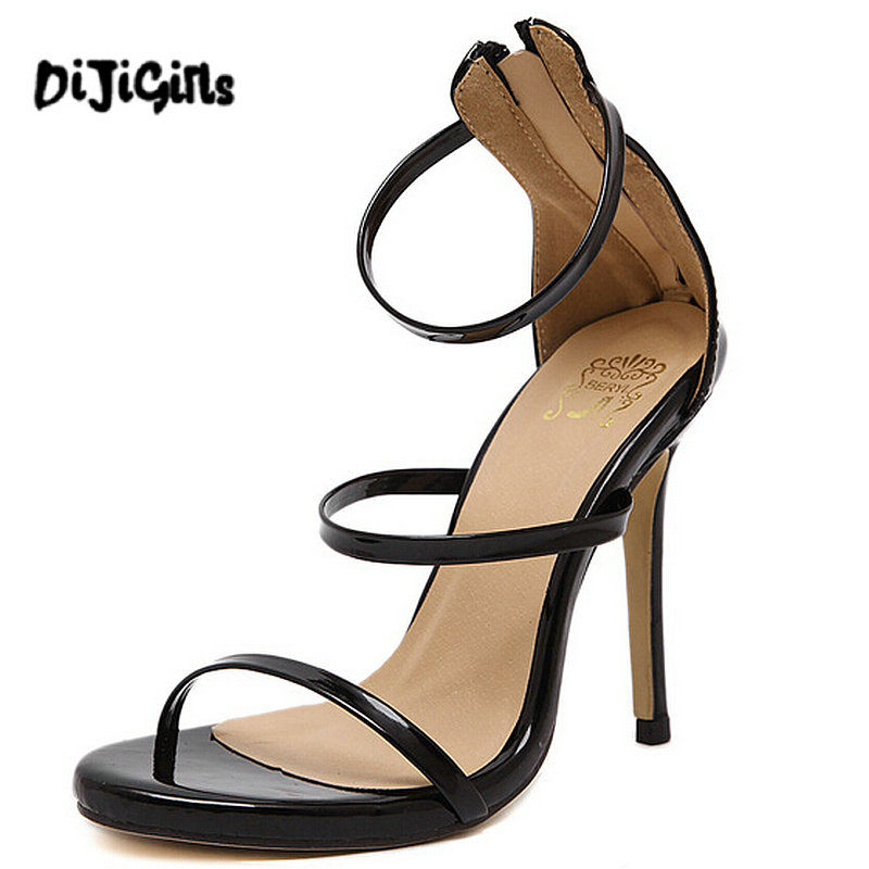 Black Strappy Sandals Heels Promotion-Shop for Promotional Black ...