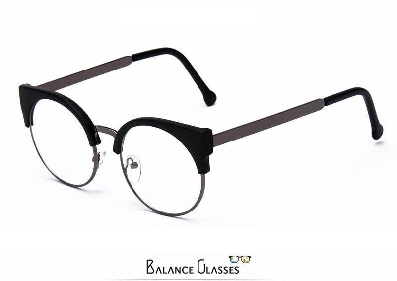 Женские простые очки кошачий глаз, полуоправа, прозрачные линзы, круглые очки, сексуальные винтажные очки кошачий глаз, оправа, брендовые дизайнерские очки
