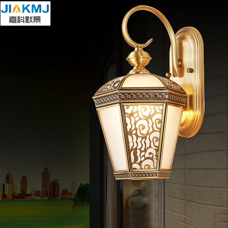 2018 Fashion copper wall lamp wall light balcony lamp led lighting lamp vintage outdoor waterproof lighting european Vintagcoppe apic d09