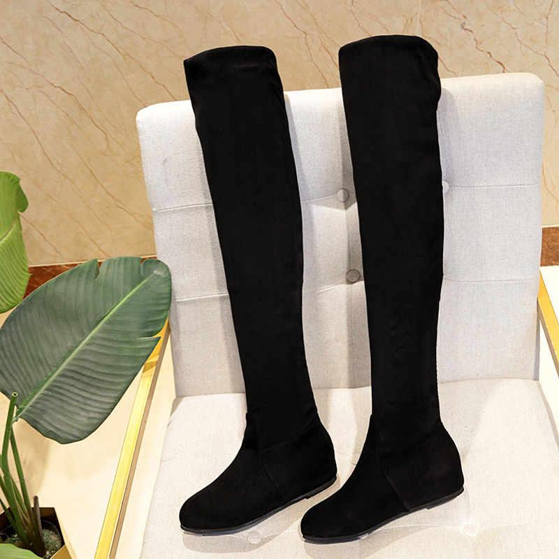 Botları kadın Boot kış çizmeler kadın kadın ayakkabı diz yüksek siyah uzun çizmeler kadın ayakkabı kadın moda Botas Mujer şişeler femme