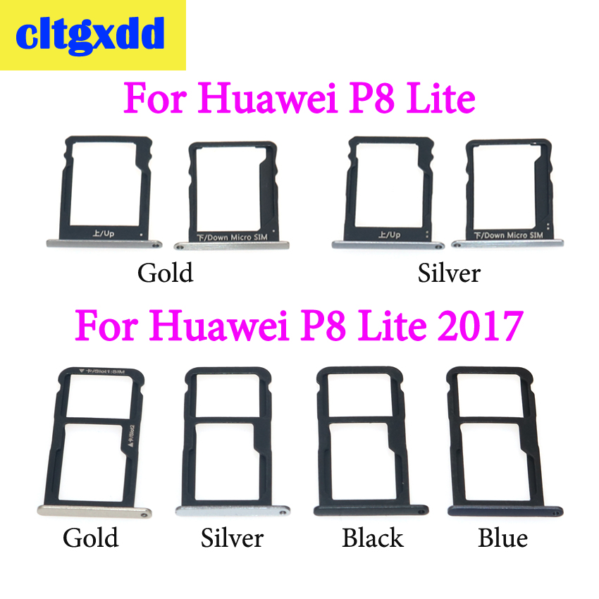 Cltgxdd New For Huawei P8 Lite For P8 Lite 2017 SIM Card Tray And Micro SD Card Tray Slot Socket Adapter Replacement Parts