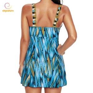 Image 4 - جديد قطعة واحدة ملابس السباحة حجم كبير ملابس النساء Vintage ثوب السباحة تنورة لباس سباحة ملابس للنساء حجم كبير ملابس السباحة