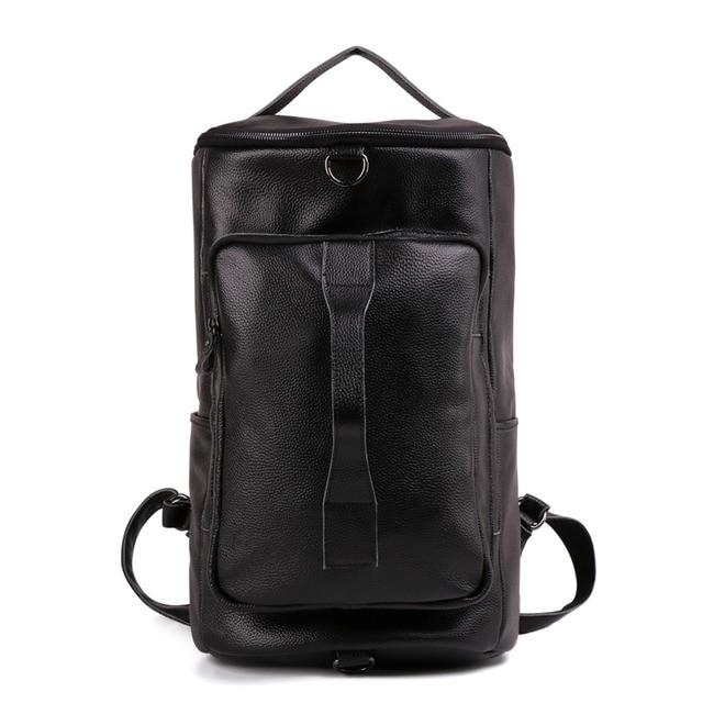 376359dc93 Genuine Leather Mini Backpack Men 15.6 Inch Laptop Bagpack Cross Body Hand Bag  Large Capacity Travel