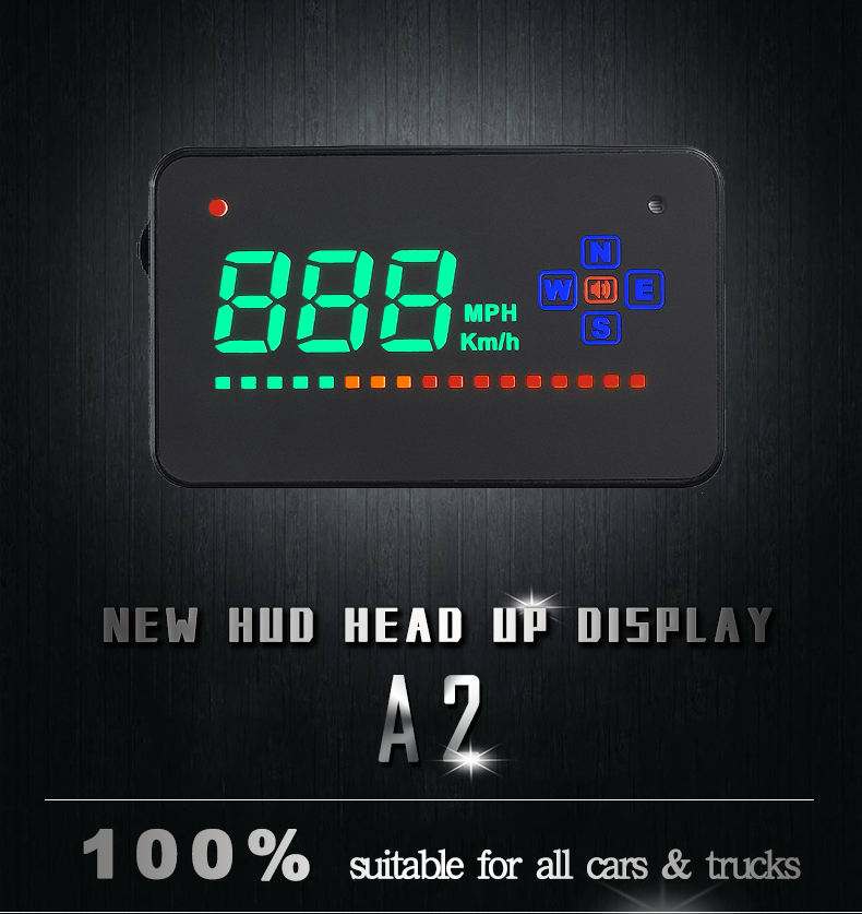 Image 2 - Genuine OBDHUD A2 GPS Head Up Display Windshield Projector Universal Digital Speedometer For Car-in Head-up Display from Automobiles & Motorcycles