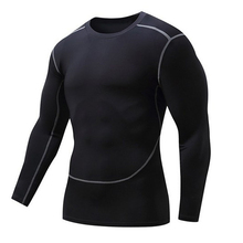 Men Gyms Clothing Fitness compression male tops Bodybuilding Long Sleeved Tshirt rashguard Quick-drying t-shirts UVprotector