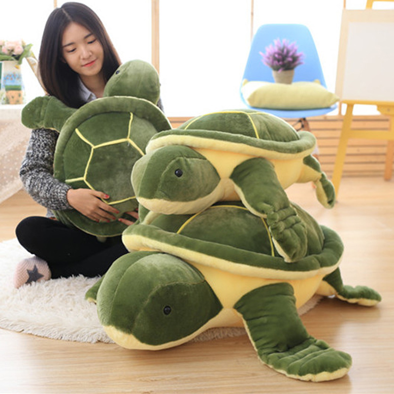 Fancytrader Giant Animal Tortoise Turtle Toy 43inch Soft Stuffed Green Pillow Cushion Babies Gifts subadult turtle food lifeline adult water turtle water turtle food turtle food kewu 300 yellow throat tortoise brazil