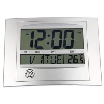 LCD Digital Jam Dinding dengan Termometer Meteran Suhu Elektronik Kalender Indoor Meja Digital Jam Dinding Dekorasi Rumah