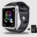 Frete grátis relógio de pulso do bluetooth smart watch esporte pedômetro com câmera sim smartwatch para android smartphones rússia t30