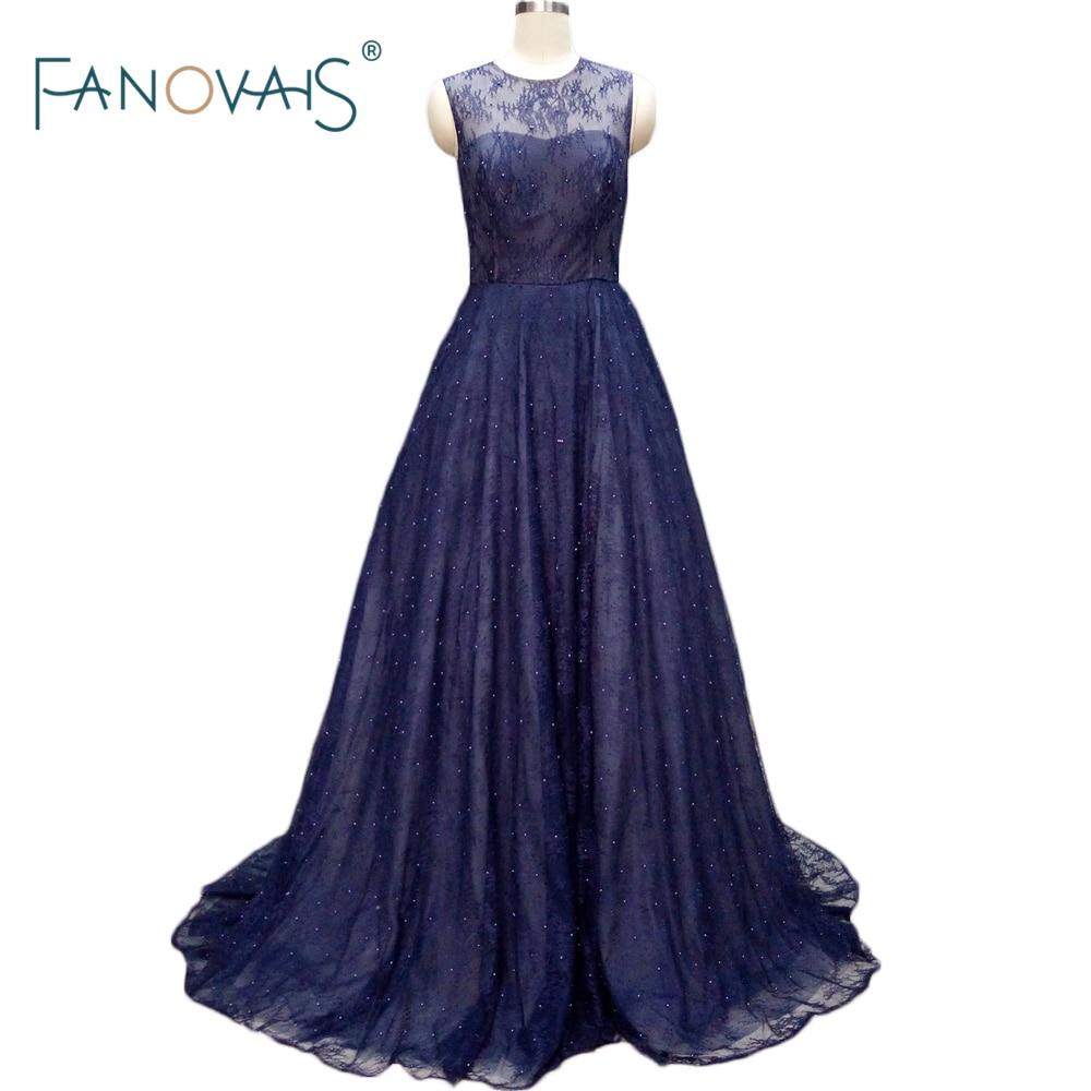 Popular Simple Long A Line Scoop Women Formal Gown Floor ...